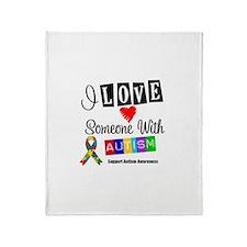 I Love Someone Autism Throw Blanket