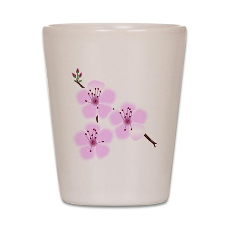 Cherry Blossoms Shot Glass