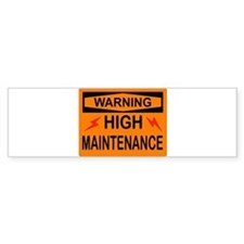 WARNING Car Sticker