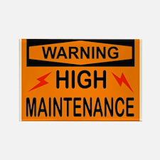WARNING Rectangle Magnet