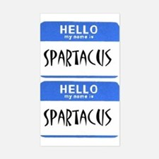 Hello My Name is Spartacus stickers