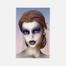 Dark Lilac Dreams Elf Rectangle Magnet