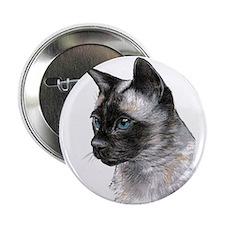 """2.25"""" Button (10 pack) Siamese Cat Portrait"""