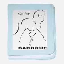 Go for Baroque baby blanket