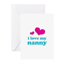 I Love My Nanny Greeting Cards (Pk of 10)