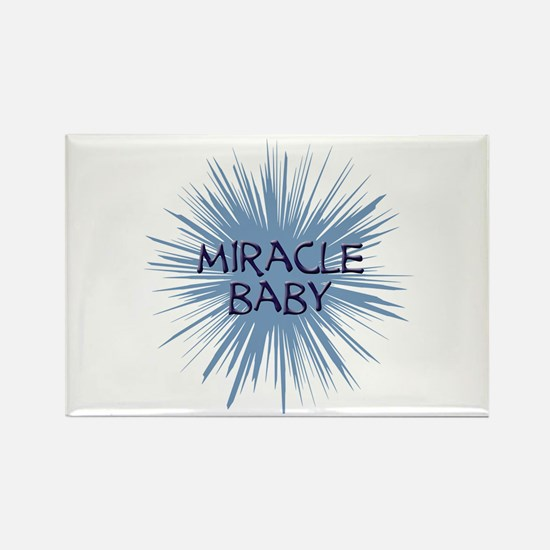 miracle baby purple starburst Rectangle Magnet