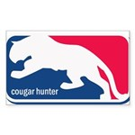 Cougar Hunter Sticker (Rectangle)