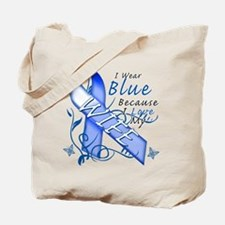 I Wear Blue Because I Love My Wife Tote Bag