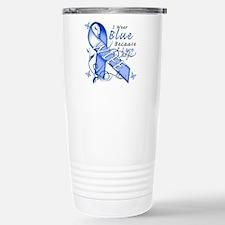 I Wear Blue Because I Love My Wife Travel Mug