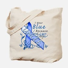 I Wear Blue Because I Love My Uncle Tote Bag