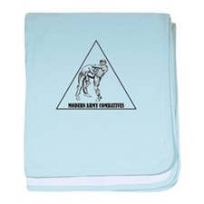 Modern Army Combatives baby blanket