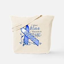 I Wear Blue Because I Love My Niece Tote Bag