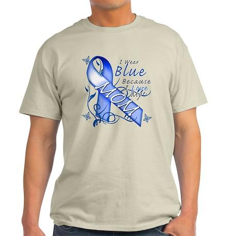 I Wear Blue Because I Love My Mom Light T-Shirt