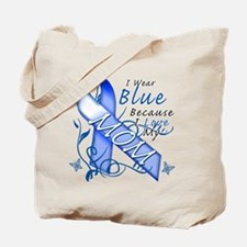 I Wear Blue Because I Love My Mom Tote Bag