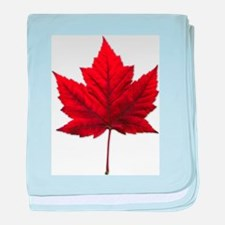 Canada Maple Leaf baby blanket