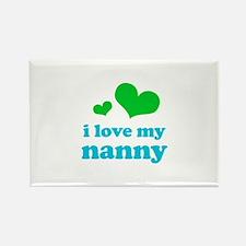 I Love My Nanny Rectangle Magnet