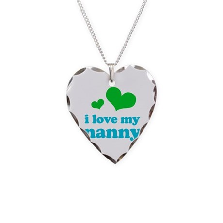 I Love My Nanny Necklace Heart Charm