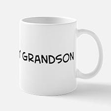 I Love My Army Grandson Mug