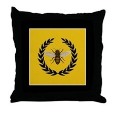Stylized Bee Throw Pillow