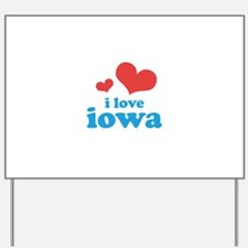 I Love Iowa Yard Sign