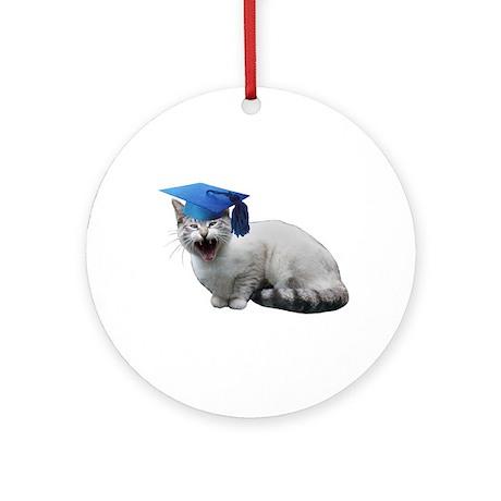 Cat Graduation Ornament (Round)
