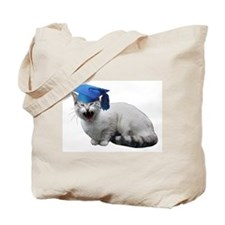 Cat Graduation Tote Bag