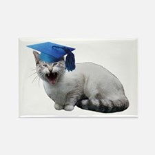 Cat Graduation Rectangle Magnet