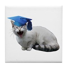 Cat Graduation Tile Coaster