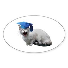 Cat Graduation Decal
