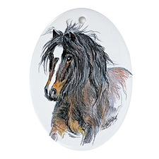Oval Ornament Welsh pony artwork