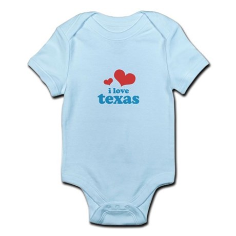 I Love Texas Infant Bodysuit