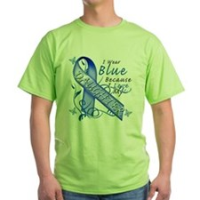 I Wear Blue Because I Love My Daughter T-Shirt