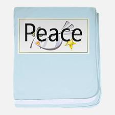 Love of Peace baby blanket