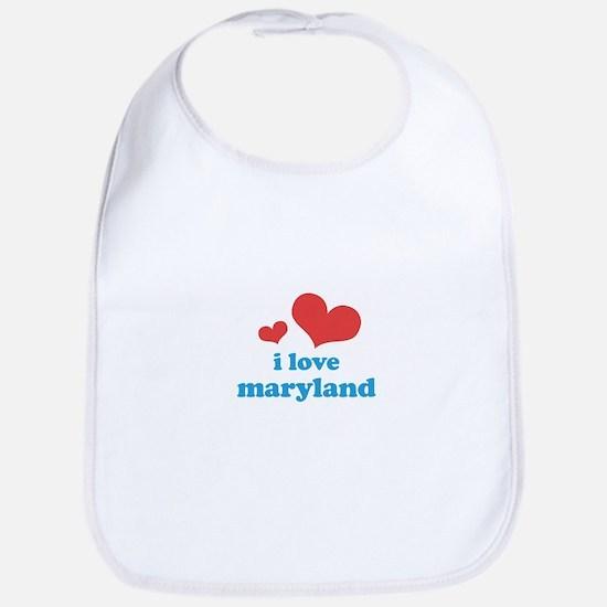 I Love Maryland Bib