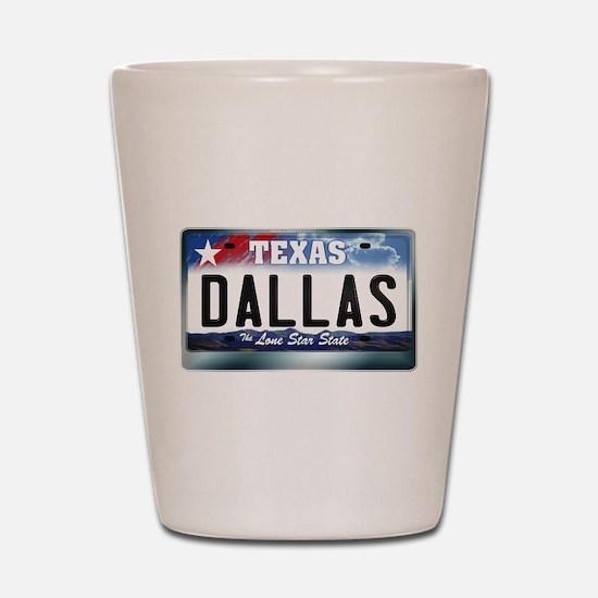 Texas License Plate [DALLAS] Shot Glass