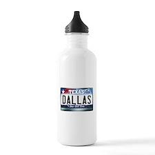 Texas License Plate [DALLAS] Water Bottle