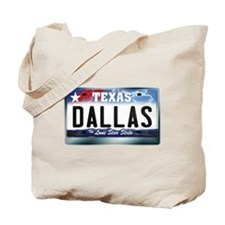 Texas License Plate [DALLAS] Tote Bag