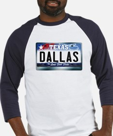 Texas License Plate [DALLAS] Baseball Jersey