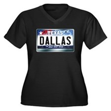 Texas License Plate [DALLAS] Women's Plus Size V-N