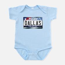 Texas License Plate [DALLAS] Infant Bodysuit
