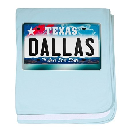 Texas License Plate [DALLAS] baby blanket