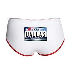 Texas License Plate [DALLAS] Women's Boy Brief