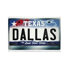 Texas License Plate [DALLAS] Rectangle Magnet