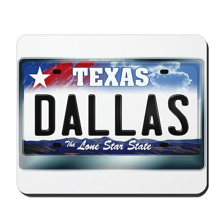Texas License Plate [DALLAS] Mousepad