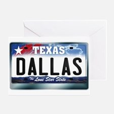 Texas License Plate [DALLAS] Greeting Card