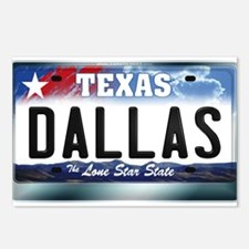 Texas License Plate [DALLAS] Postcards (Package of