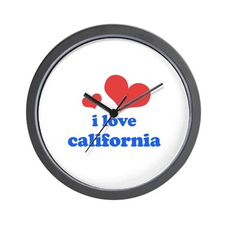 I Love California Wall Clock