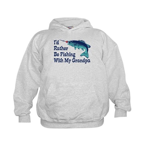 I'd Rather Be Fishing With My Grandpa Kids Hoodie