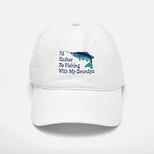 I'd Rather Be Fishing With My Grandpa Baseball Baseball Cap