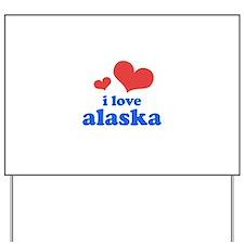 I Love Alaska Yard Sign